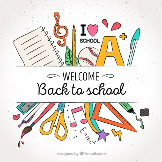 Background welcome to school Free Vector