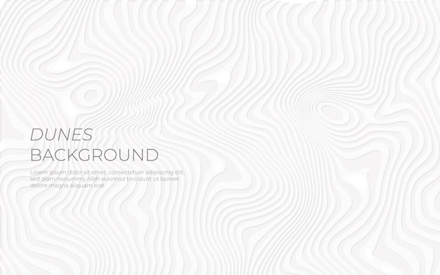 Background white dunes paper effect Free Vector