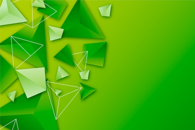 Background with 3d triangles in vivid colors Premium Vector