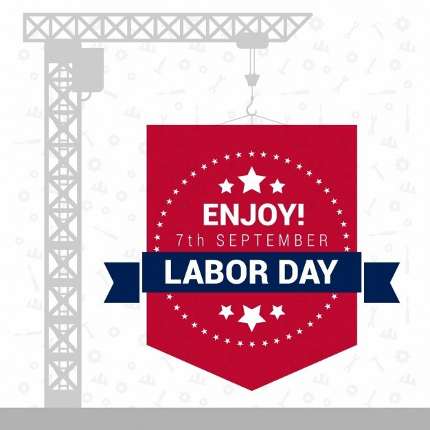 Background with a gray crane for labor\ day