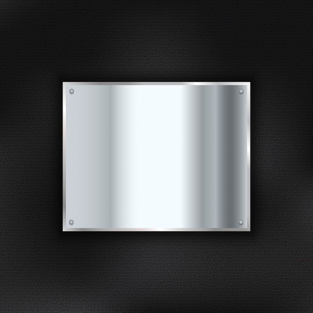Background with a metal plate
