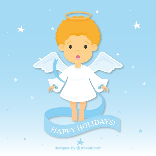 Background with a nice christmas angel