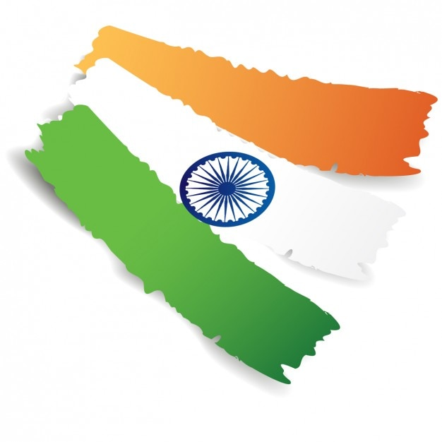 Background with abstract flag of India