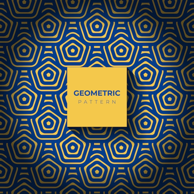 Background with abstract geometric patterns of hexagon Free Vector