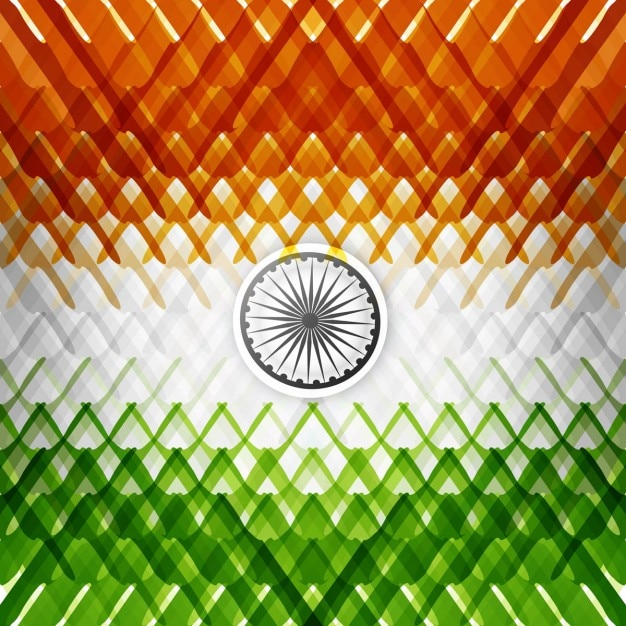Background with abstract indian flag