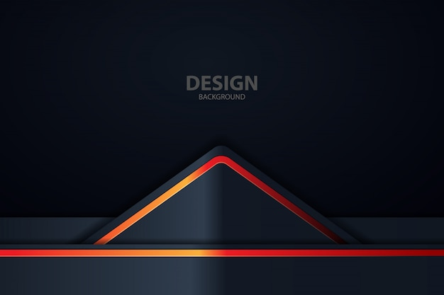 Background with abstract neon lights Premium Vector
