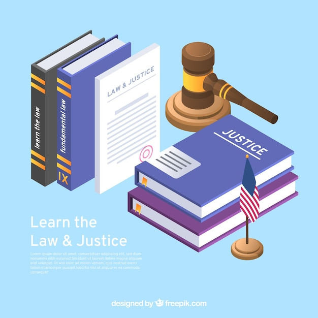 Background with advocacy elements Free Vector