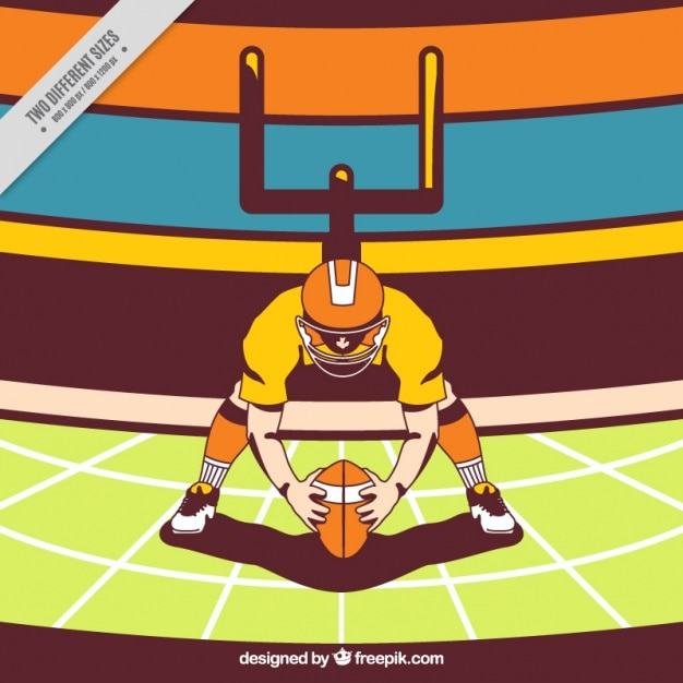 Background with american football\ illustration