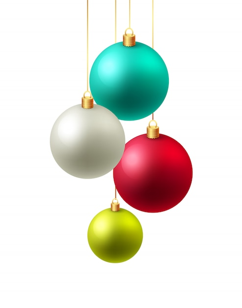 Background with baubles. Premium Vector