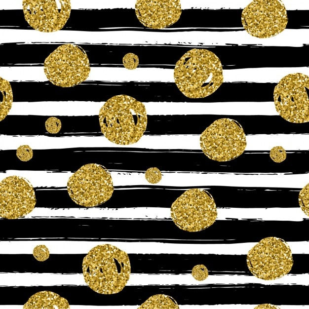background with black lines and golden dots vector free