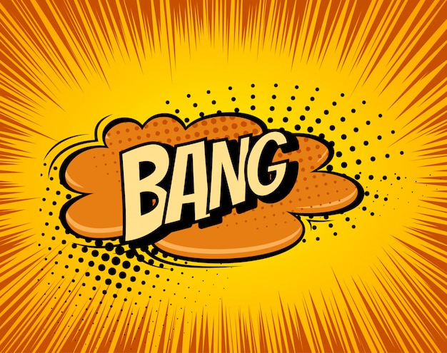 Background with boom comic book explosion Premium Vector