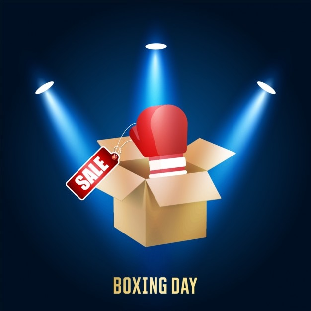 Background with box and boxing day label