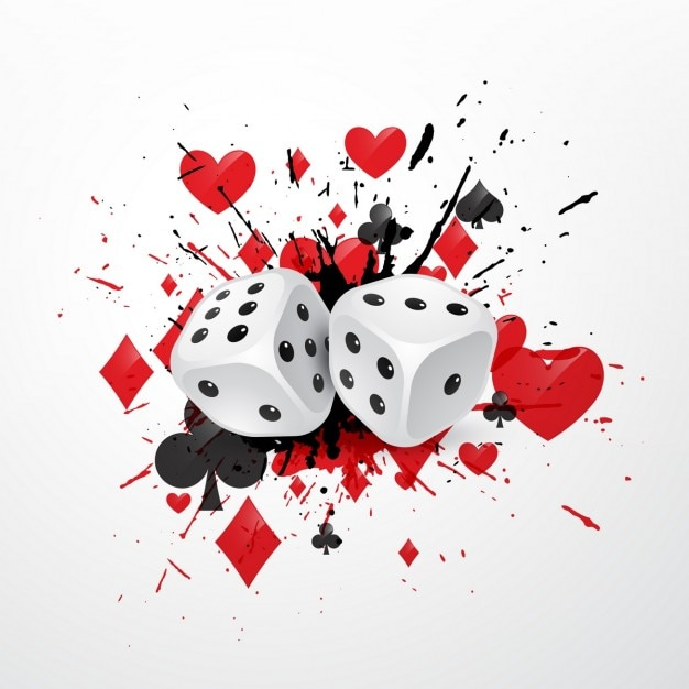 Background with casino dice Free Vector
