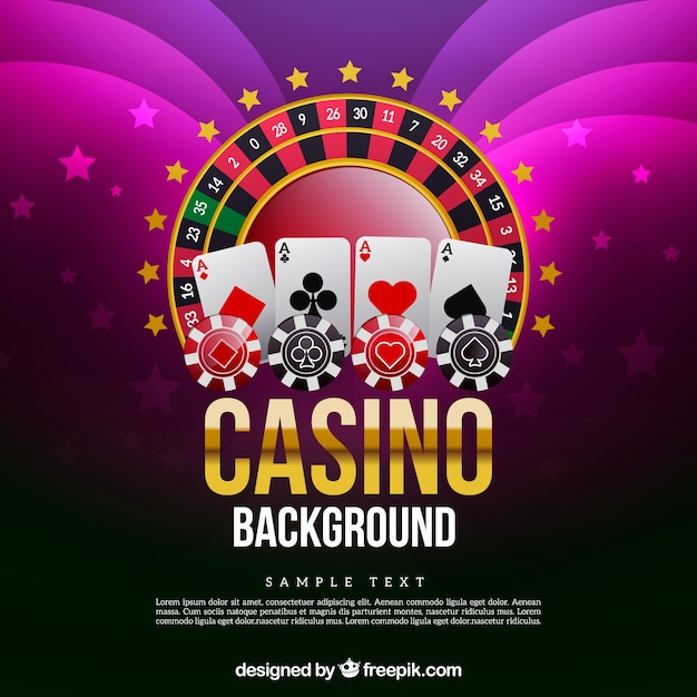 Background with casino games Free Vector