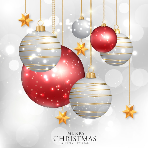 Background with christmas tree elements Premium Vector