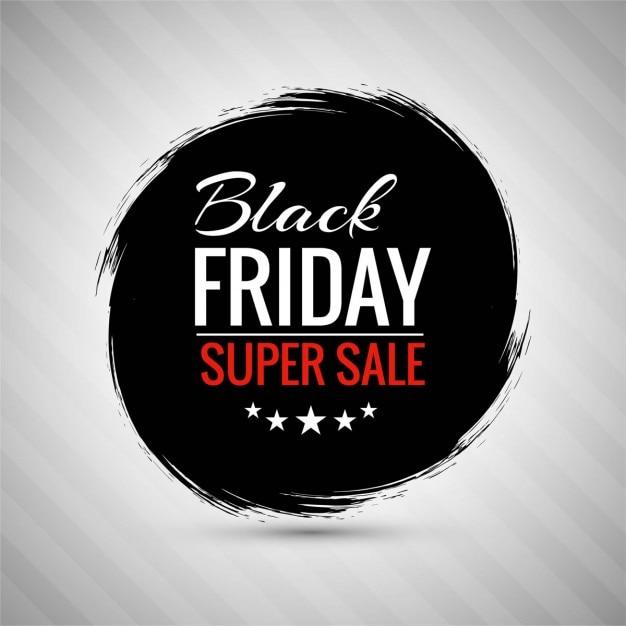 Background with a circle of black ink for black friday Free Vector