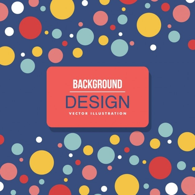 Background with colored dots Free Vector