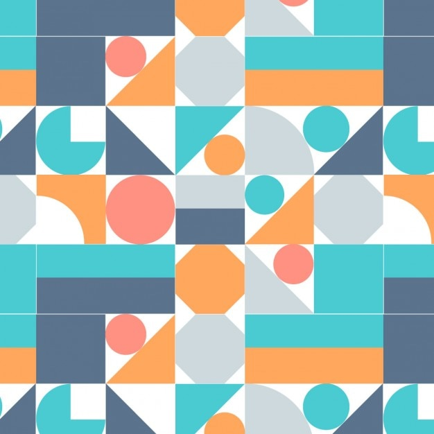 background with colored geometric shapes vector free