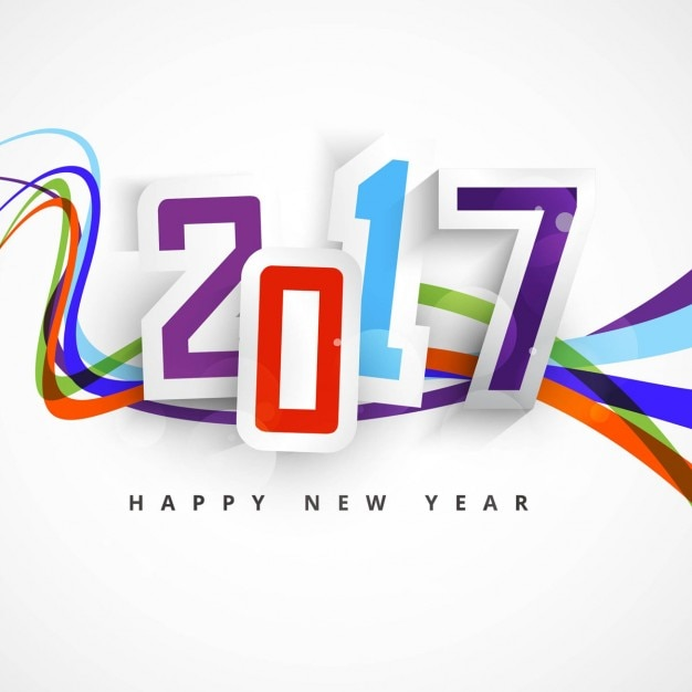 Background with colored lines for new year Vector | Free Download
