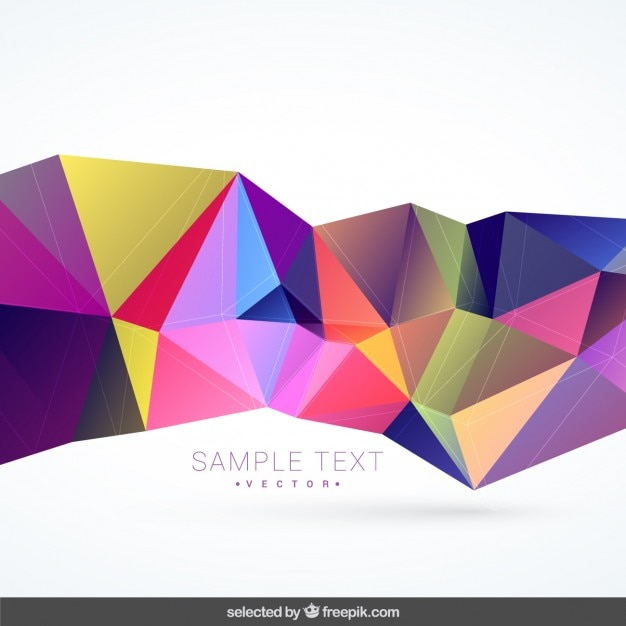abstract polygonal colorful background - photo #44