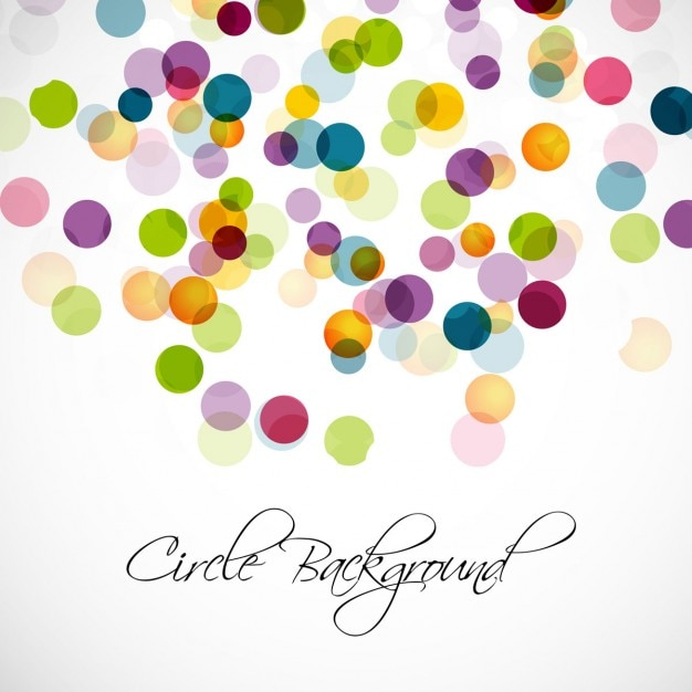 Background with colorful translucent dots Free Vector