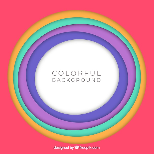 Background with colourful circles