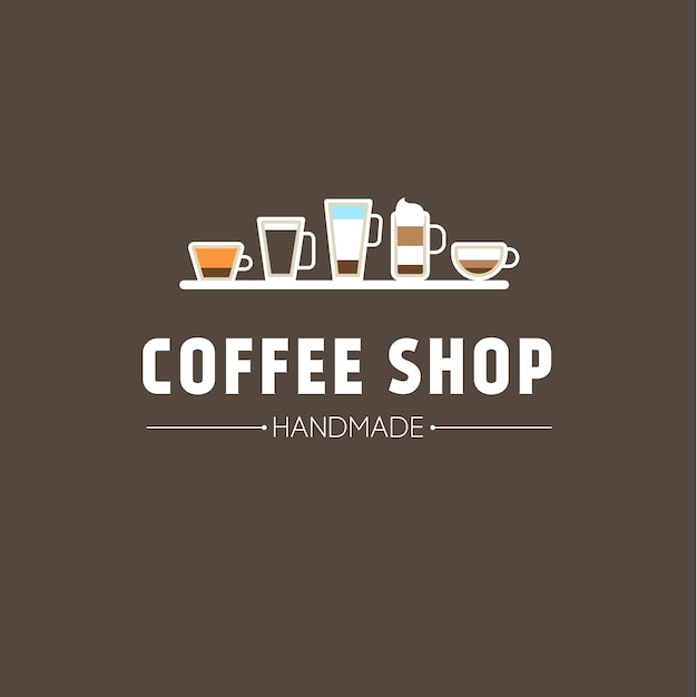 Background with cup of coffee icons Free Vector