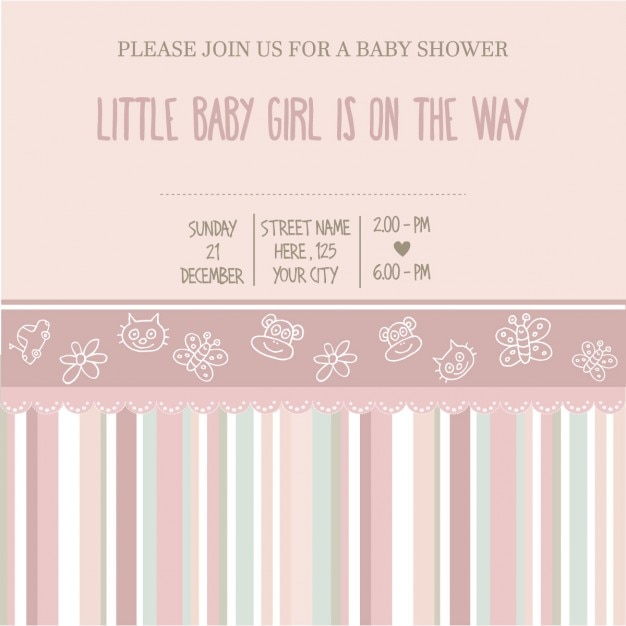 Background with cute elements for baby\ shower