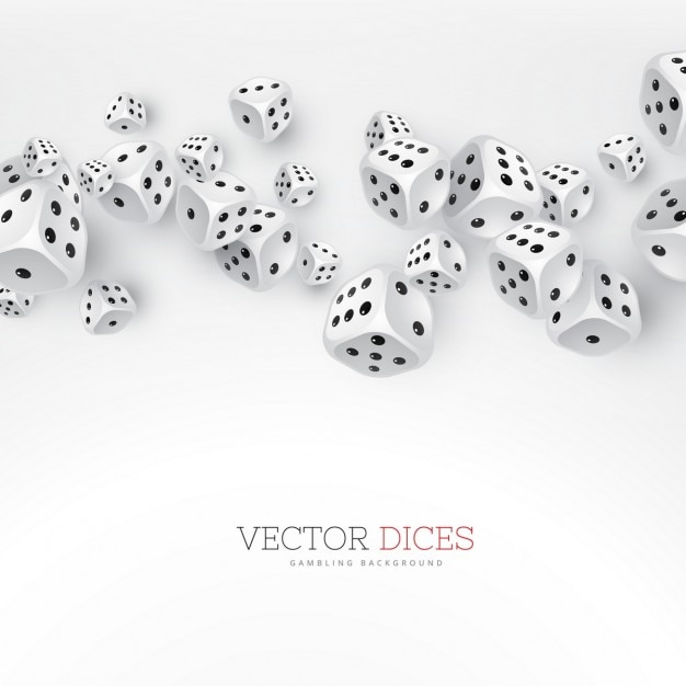 Background with dice, casino Free Vector