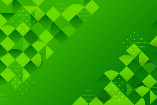 Background with different green shapes Free Vector