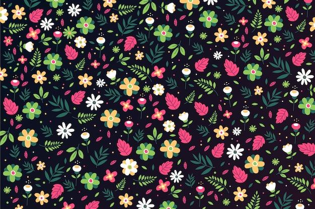Фон с цветочками Бесплатные векторы