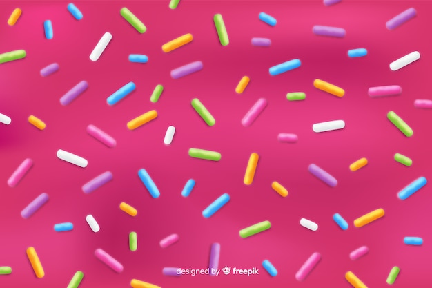 Background with donut glaze Free Vector