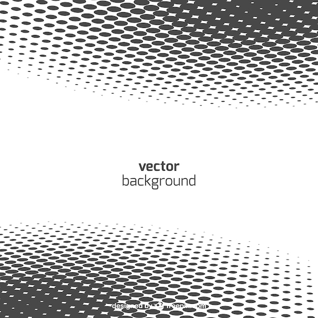 Line Art Vs Halftone : Background with dots vector free download