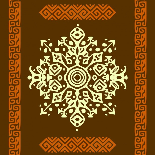 Background with ethnic ornaments Free Vector