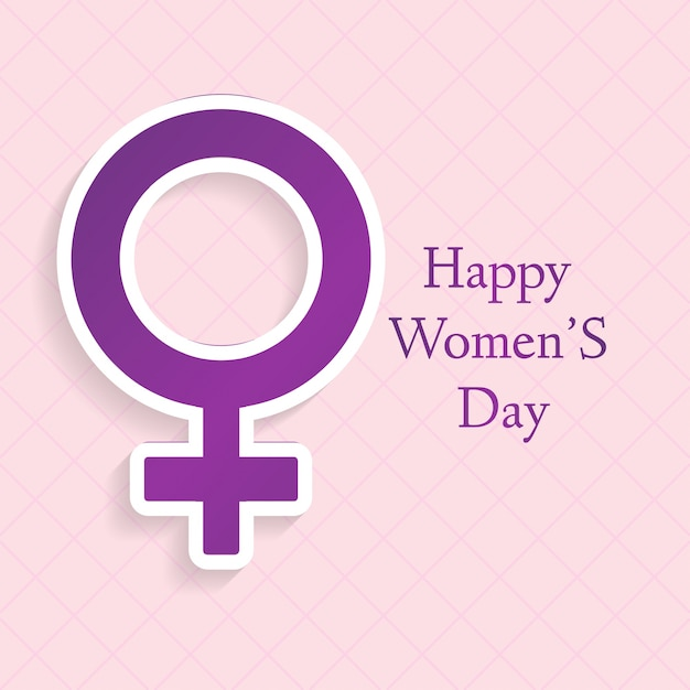 Background With Female Gender Symbol Vector Free Download