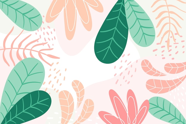 Background with floral concept Free Vector
