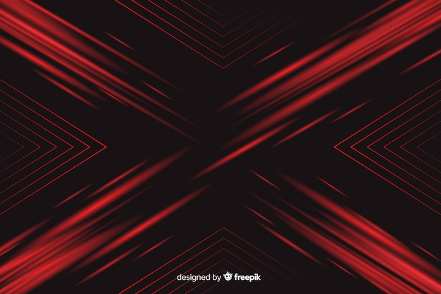 Background with geometric red light Free Vector