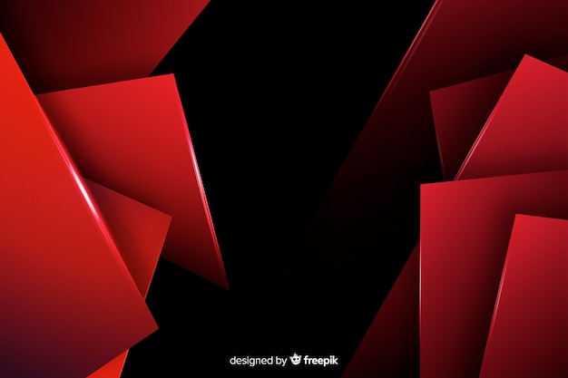 Background with geometric red lights Free Vector