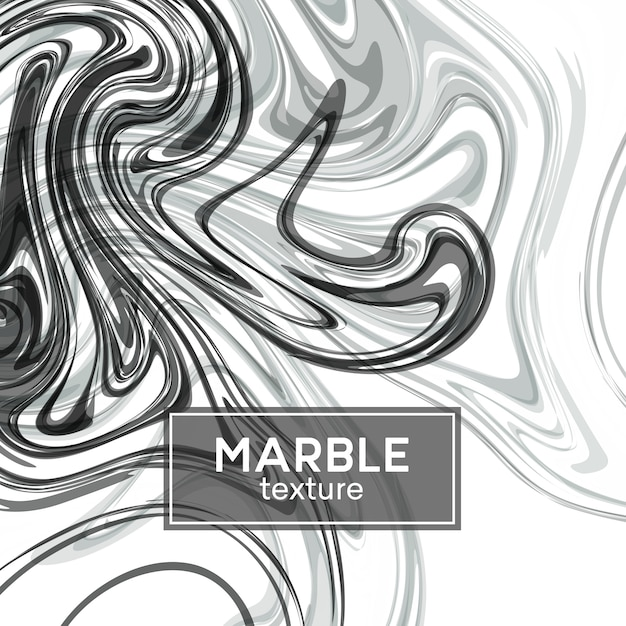 Background with gray painted waves. marble texture Premium Vector
