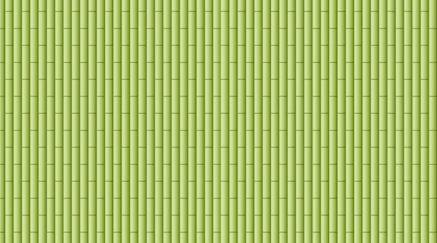 Background  with green bamboo woods Free Vector