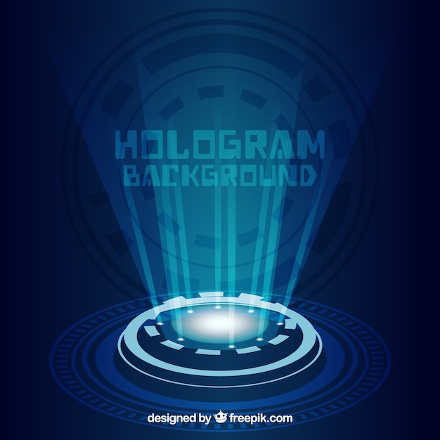 Background with hologram design Free Vector