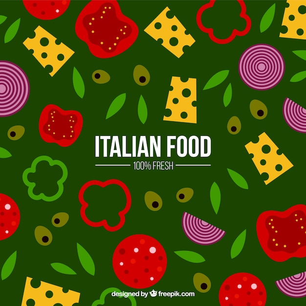 Background with italian food ingredients