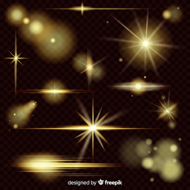 Background with light effect collection Free Vector