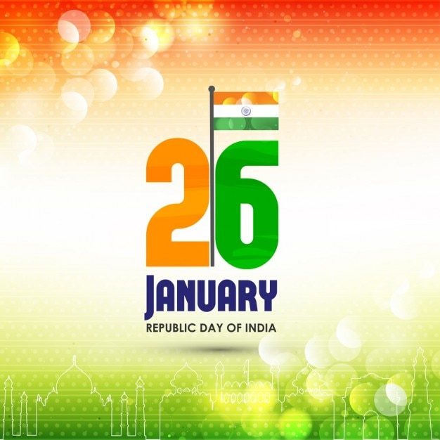 Background with lights, republic day of india Free Vector