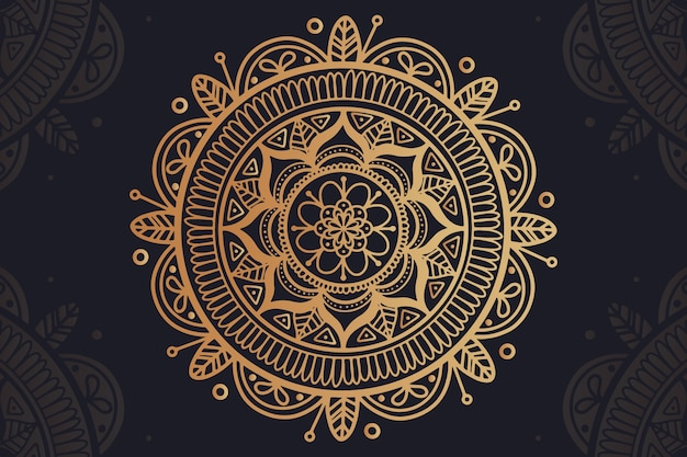 Background with luxury mandala concept Free Vector