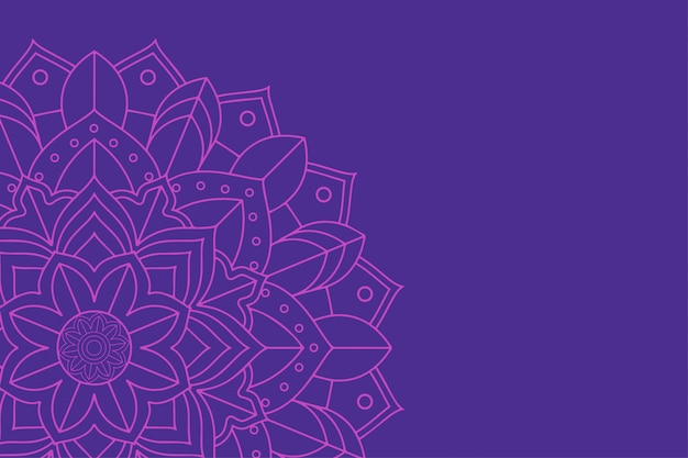 Background with mandala design Free Vector