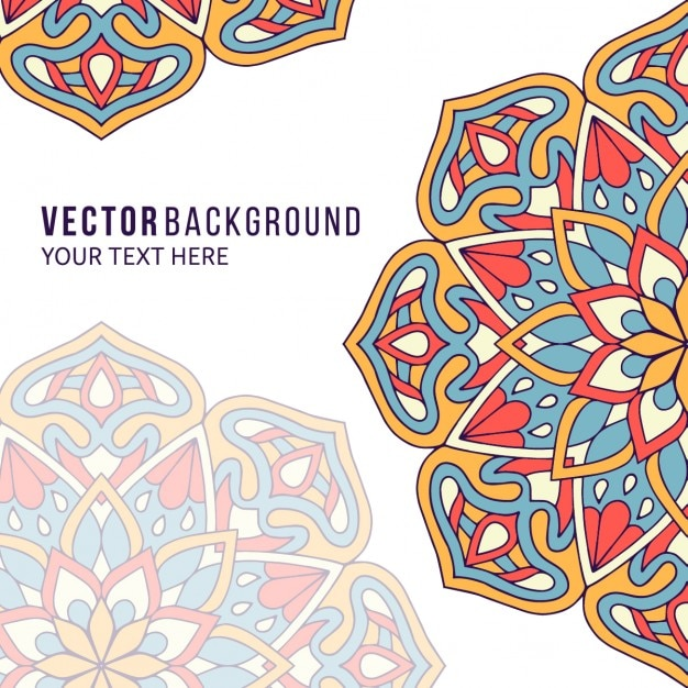 Background With Mandalas Full Color Vector Free Download