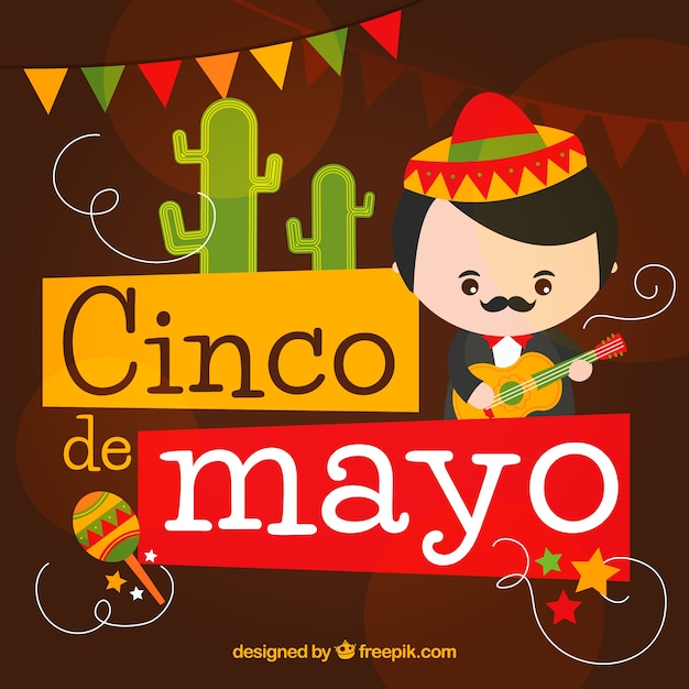 Background With Musician For Cinco De Mayo Vector | Free ...