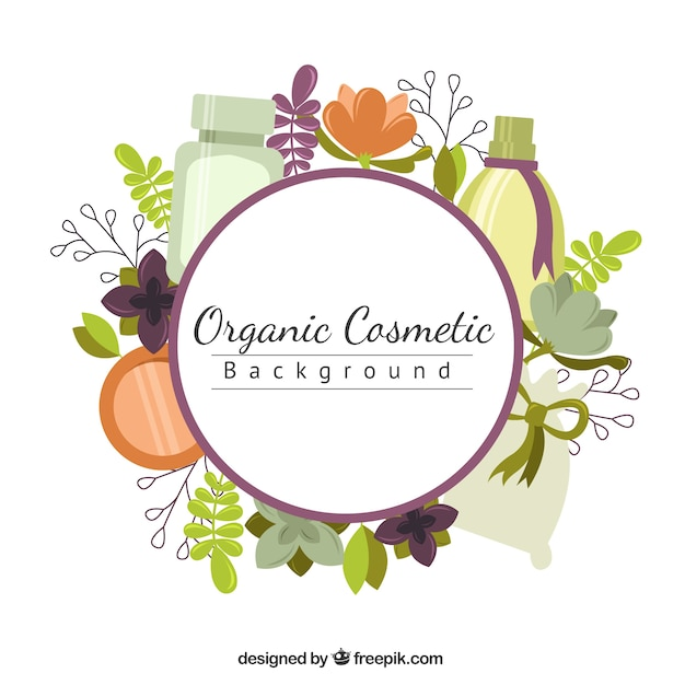 Background With Natural Beauty Products Vector Free Download