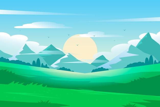 自然の風景の背景 無料ベクター
